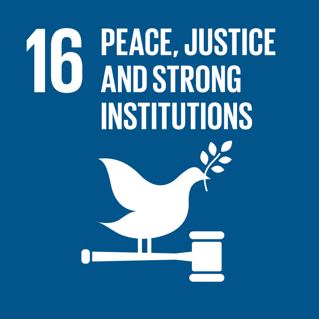 Information on project aiming to reach Sustainable Development Goal 16: Peace, justice and strong institutions.